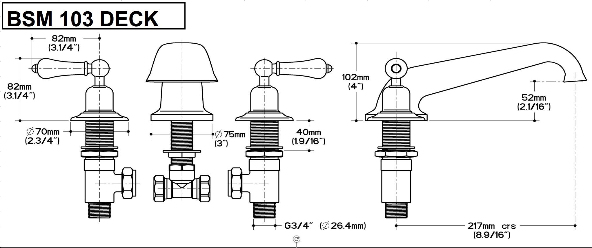 BSM 103 DECK BATH FILLER