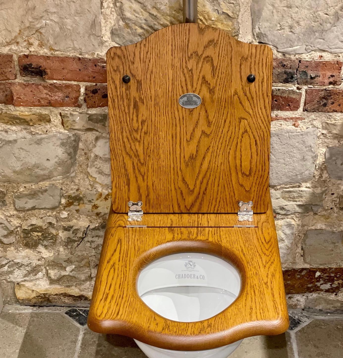 toilet seat throne seat oak