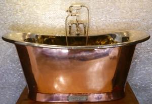 Royal Copper Bath with Nickel Interior.