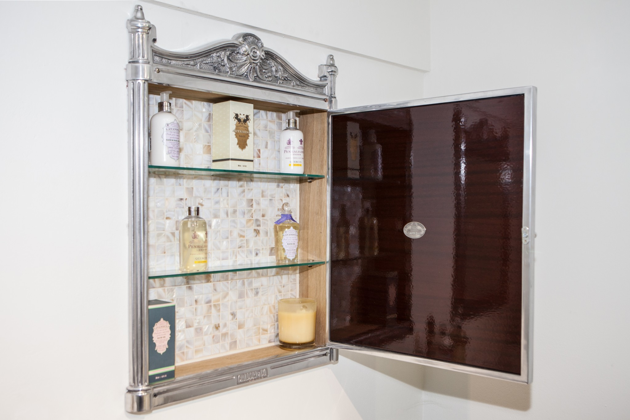 Blenheim in wall cabinet chadder co - Bathroom storage mirrored cabinet ...