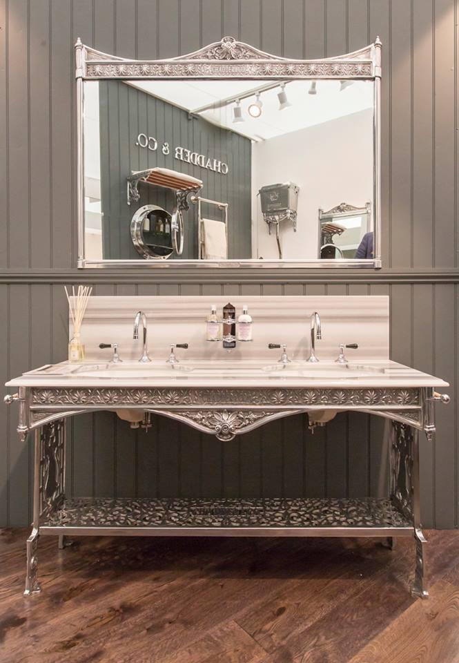 basin frame polished metal industrial bathroom sink
