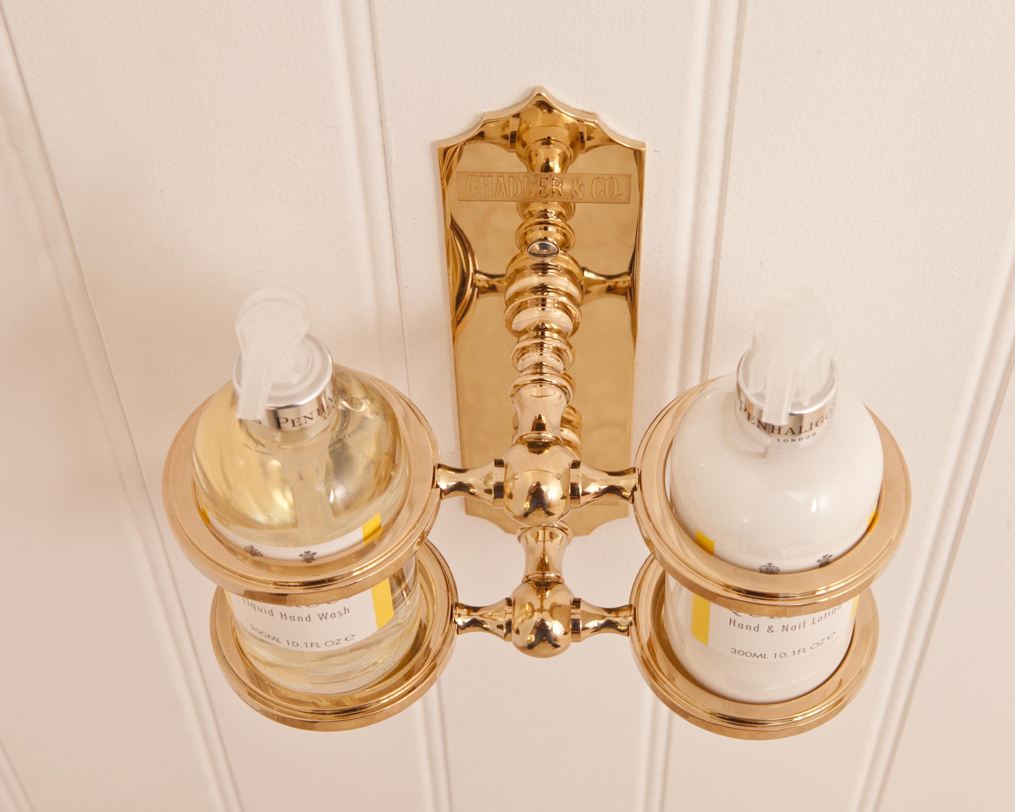 molton brown soap holder penhaligons soap bottle holder gold plate finish