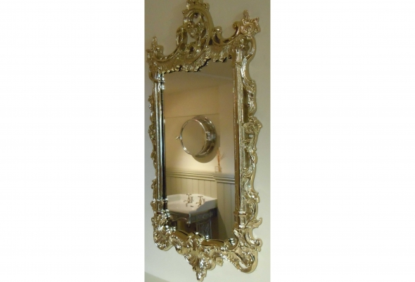 Sussex mirror finished in Gold plate.