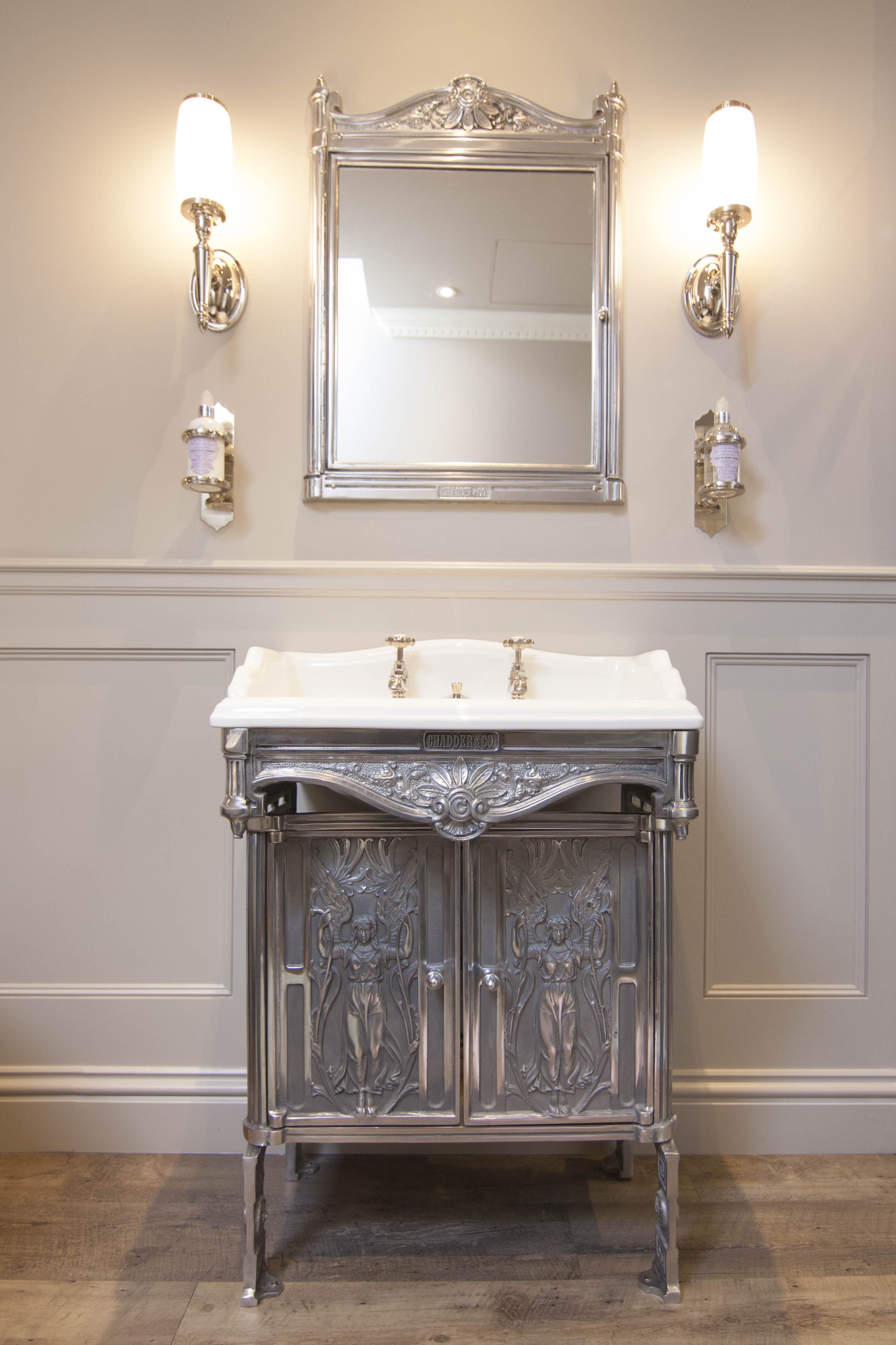 traditional basin frame bathroom sink mirror