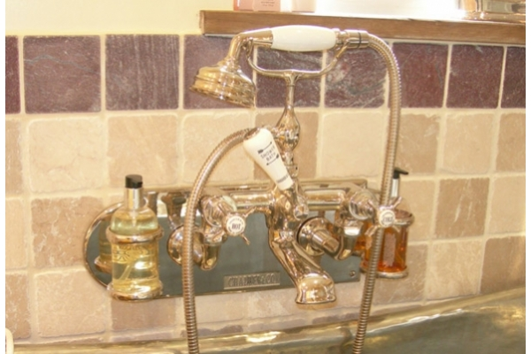 Chadder BSM 100 Wall Bath Shower MIxer Nickel Finish, Backplate with A6 Soap Dispenser Holders.