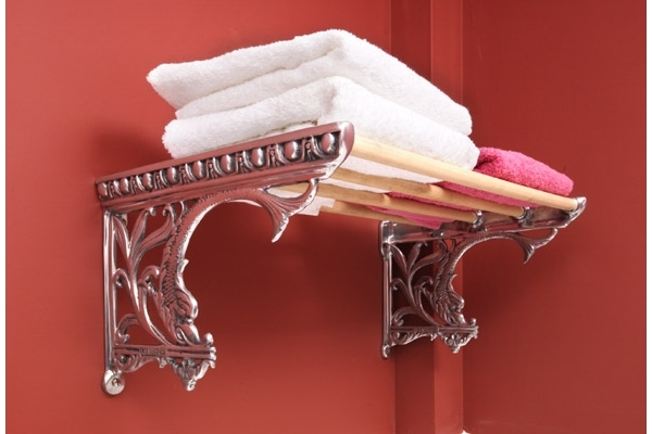 CHADDER A9 Sussex Towel Rail, with Wood
