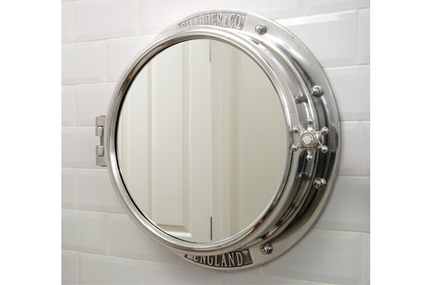 CHADDER Porthole Surface Mounted Cabinet, Polished Finish