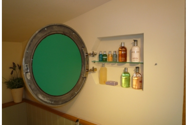 Chadder Porthole Mirror In-wall Cabinet.