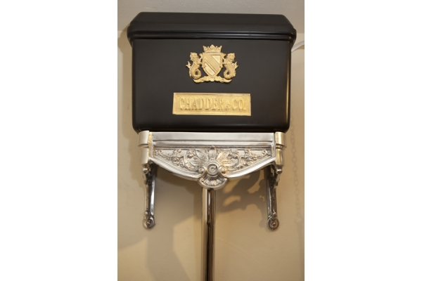 CHADDER Blenheim High Level, Satin Black with Gold and Polished Metal ( Price on aplication)