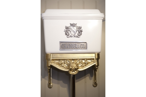 CHADDER Blenheim High Level, White with Gold and Polished Metal ( Price on aplication)