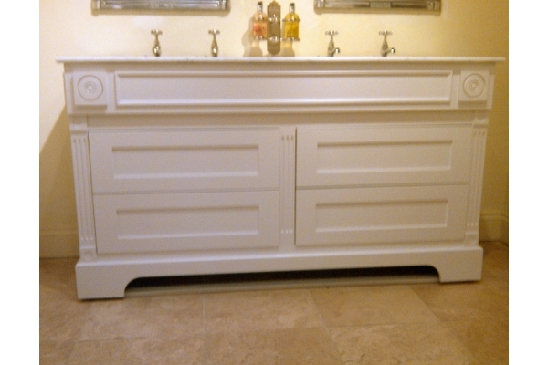 Double Windsor Cabinet with Marble and Draws