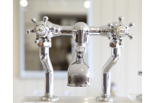 BSM 102 Deck Mixer with Sheriff Tap Heads.