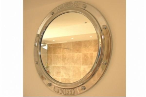 Chadder Porthole Mirror,Polished Finish