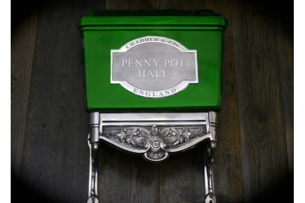 Luxury Bespoke toilet cistern. Finished in Green. Be as creative as you want to be with Chadder & Co.