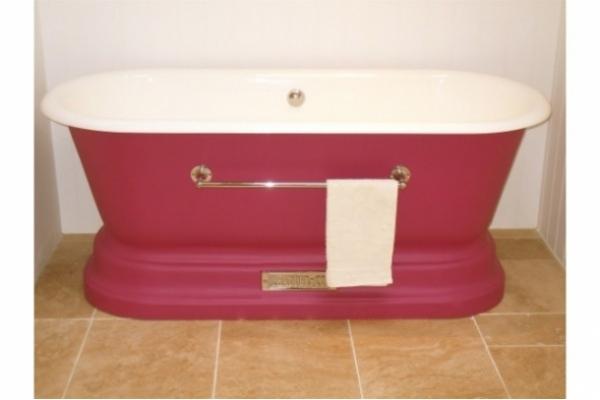 Chadite Windsor Bath with Towel Rail.