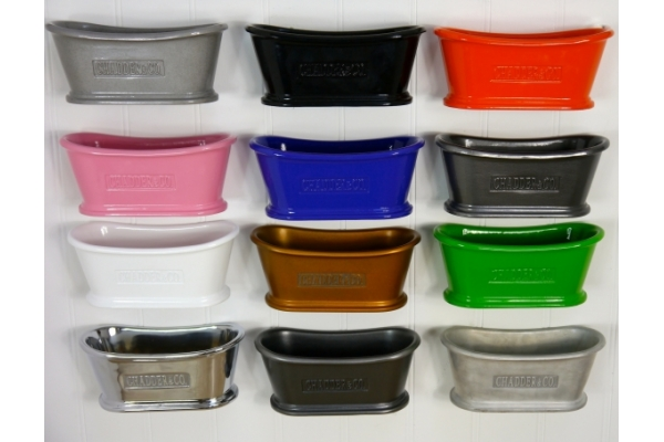 Small selection of the Colour Range available on all of Chadder & Co.'s metal products.