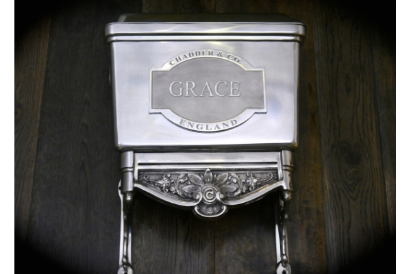 Luxury bespoke High Level traditional toilet cistern. Customised to a customers Name.