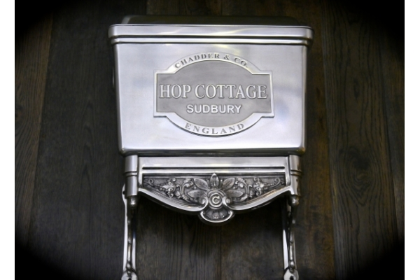 Bespoke Toilet Cistern Plaque with the Customers House name on.
