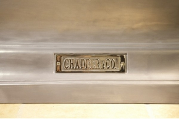 Chadder Churchill Chadite Bath, Polished Cast Iron effect exterior.