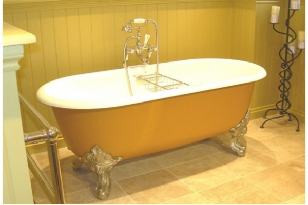 CHADDER Blenheim Bath on large feet nickle finish