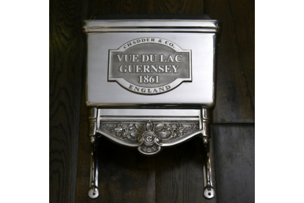 Toilet Cistern Customised to state the clients House Name and Date. Bespoke Cistern.