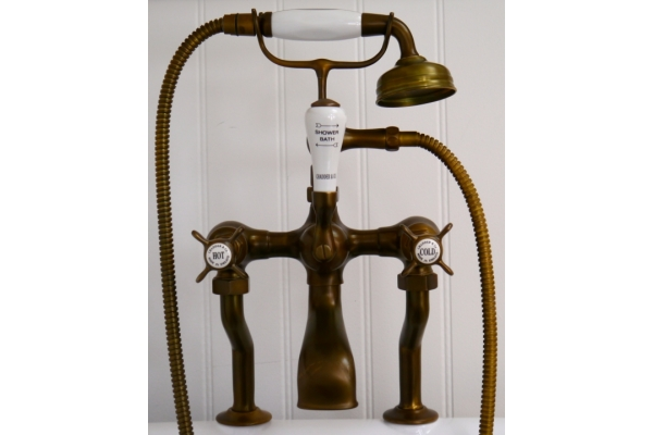 WEATHERED BRASS FAUCET UNIQUE TO  CHADDER