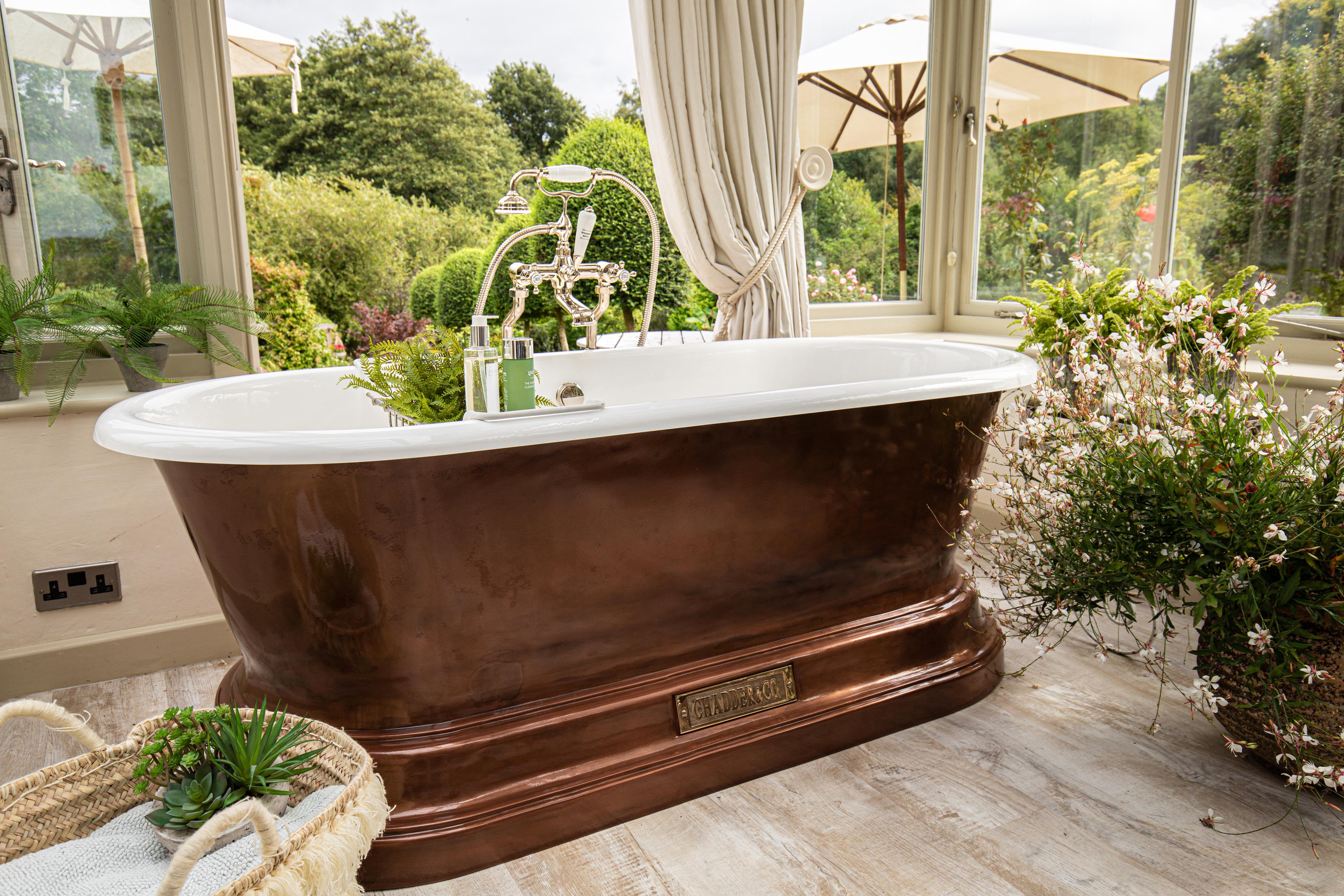 free standing bath copper tub copper bathroom bathroom design