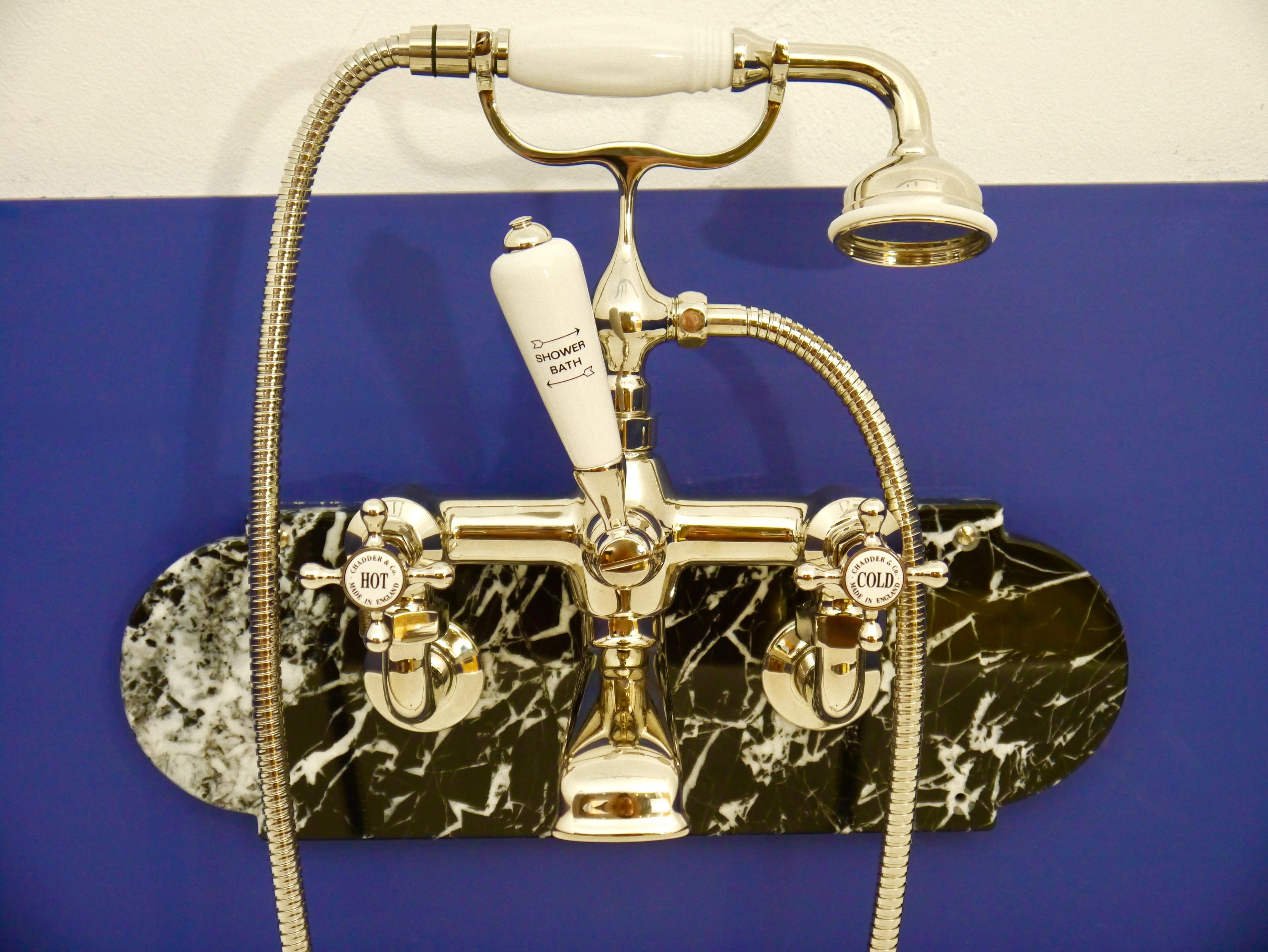 luxury bathroom nickel taps faucets marble