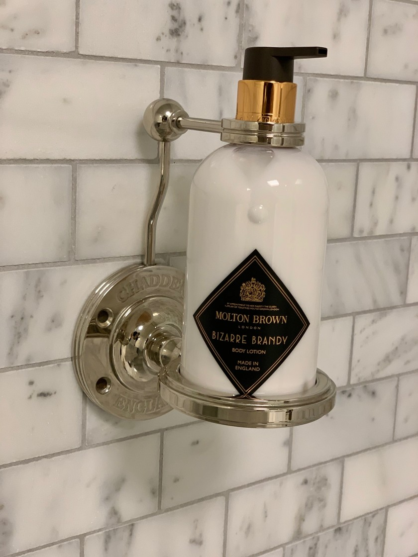 bathroom accessory soap bottle holder