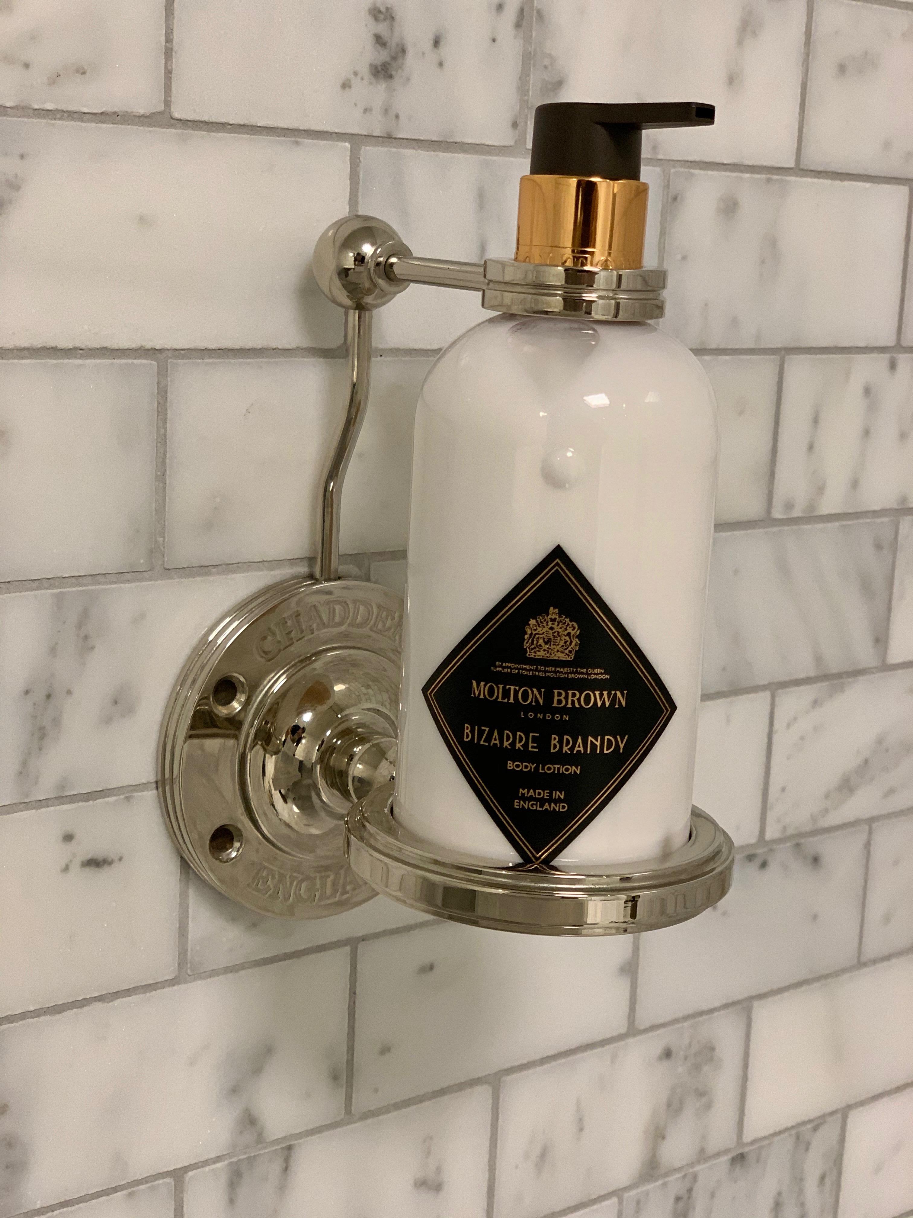 bathroom accessory soap bottle holder