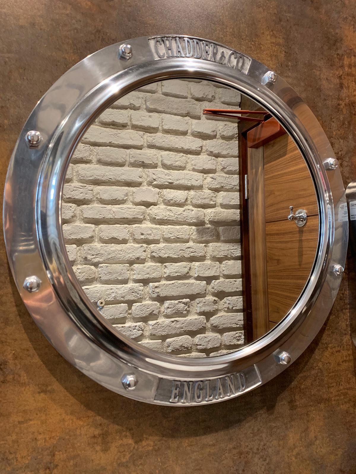 nautical porthole mirror bathroom