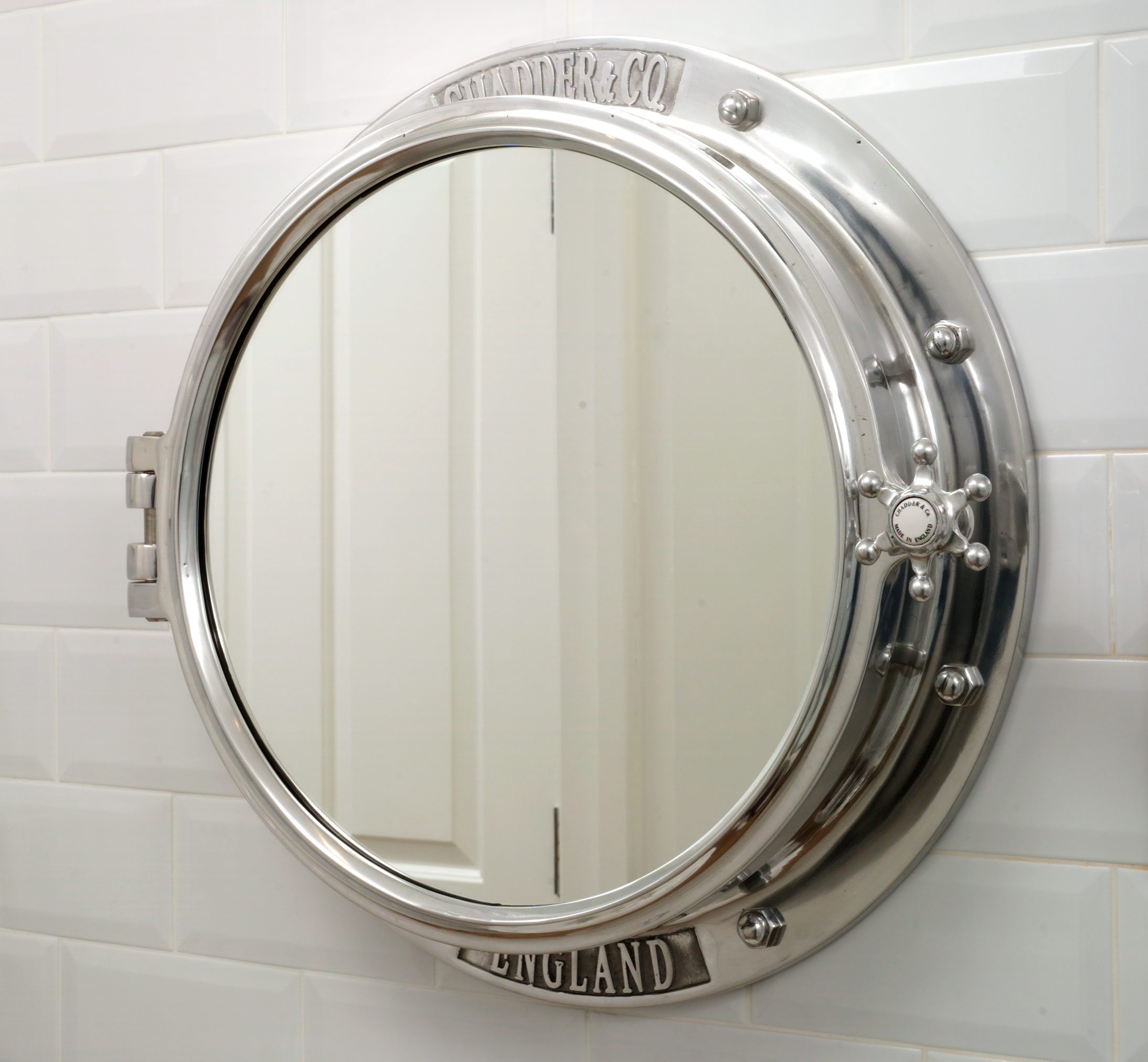 traditional bathroom mirrors porthole mirror cabinet chadder amp co 14797