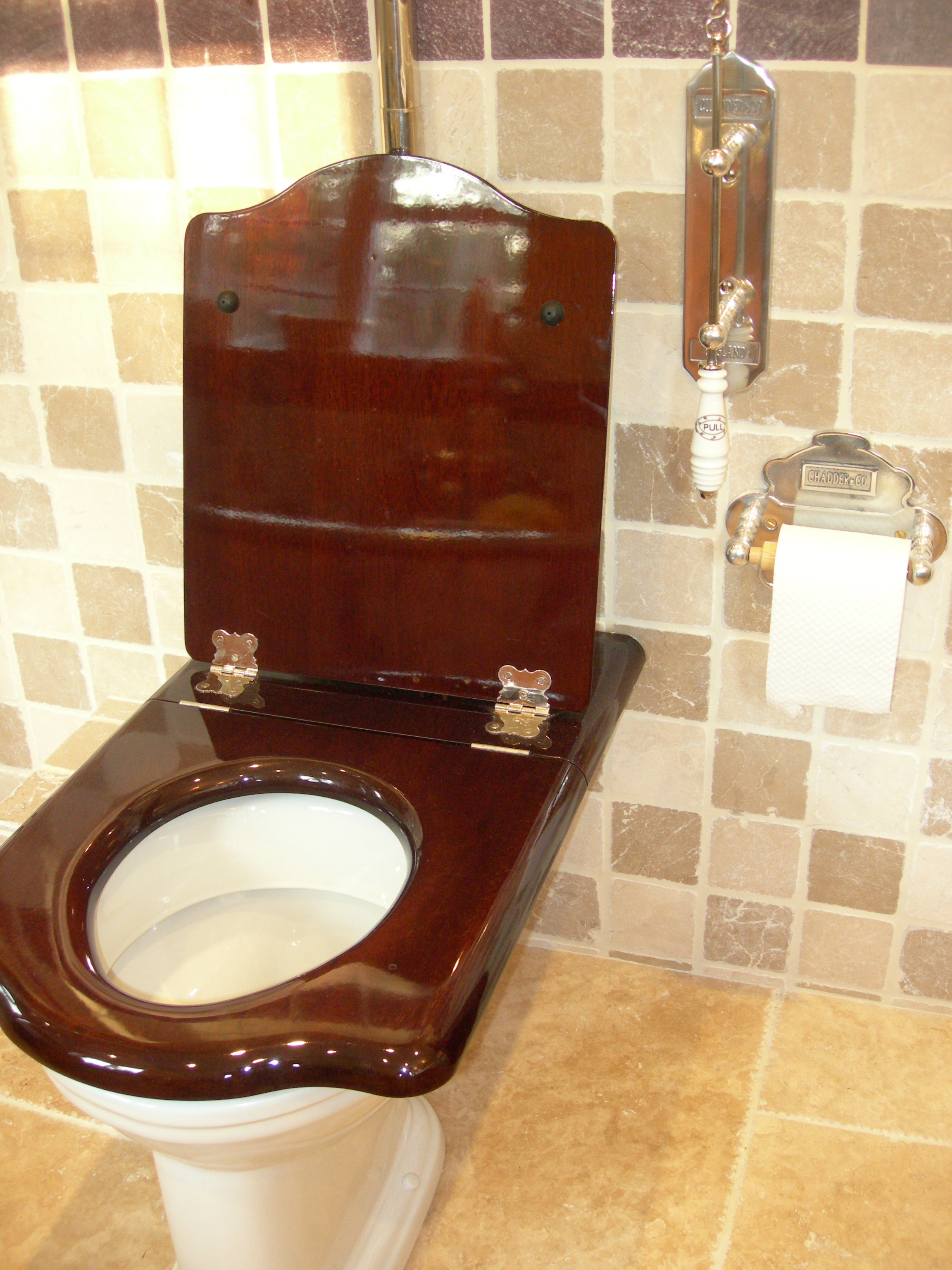 Chadder And Co Mahogany Throne Toilet Seat Chadder Amp Co