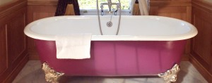 chadder and co -blenheim-pink roll top traditional bath