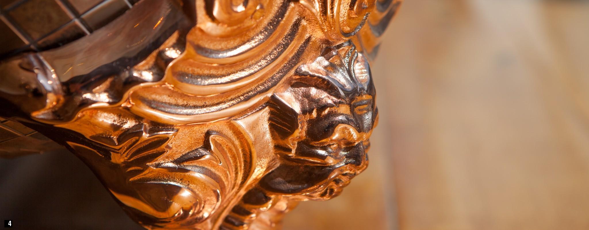 Chadder bath ornate leg detail