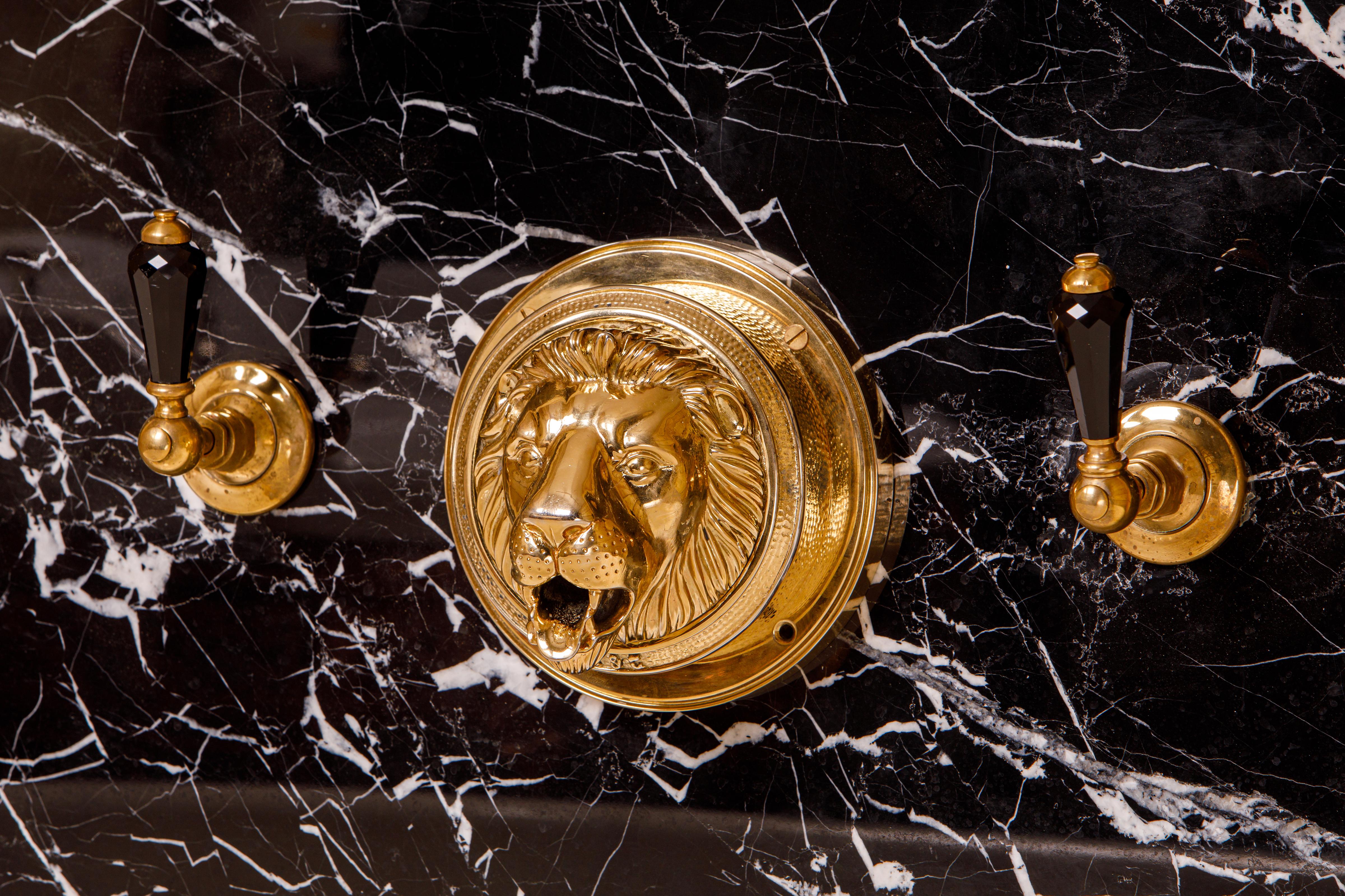bath tap lions head bath filler tub marble faucets faucet