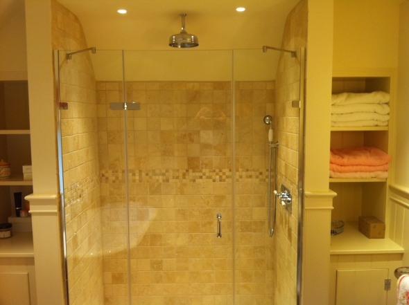 Sussex shower left hinged door with two side panels.