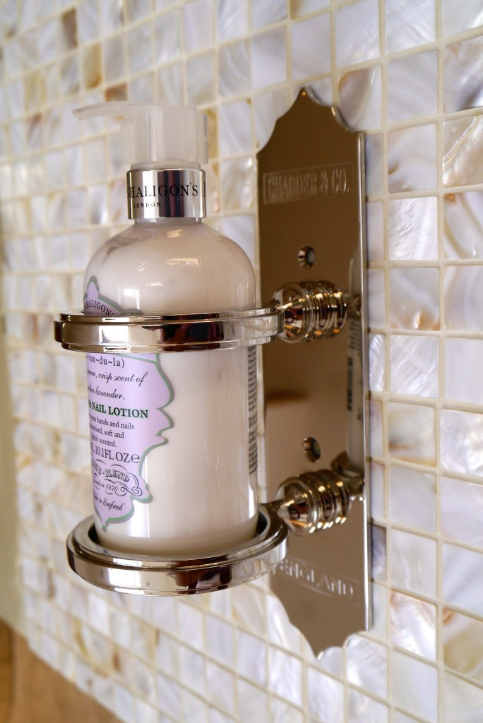 luxury gold bathroom soap dispenser from chadder and co