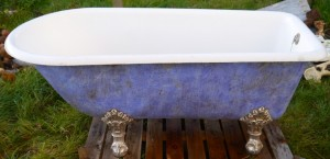 French Single Ended Taper Antique Bath