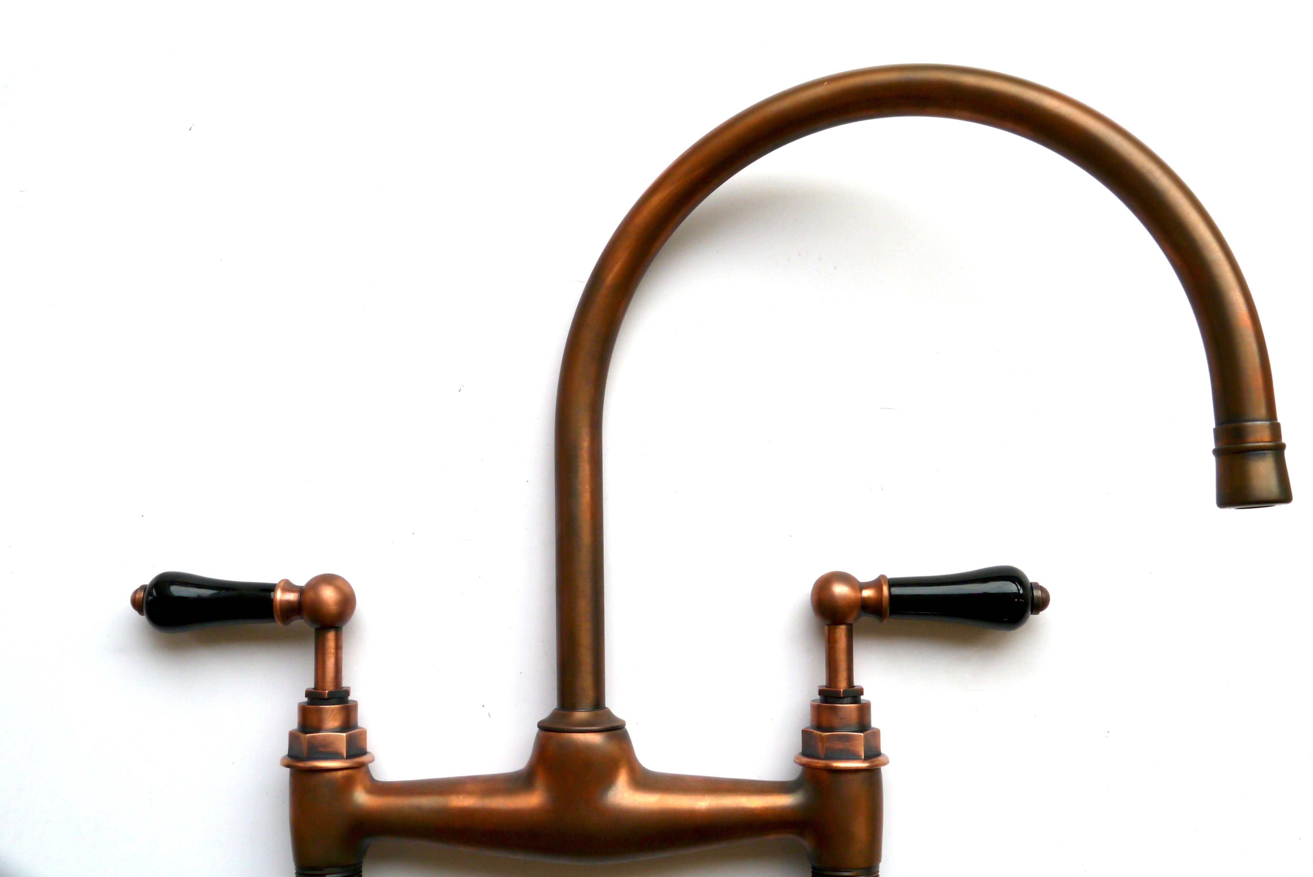 copper kitchen tap mixer