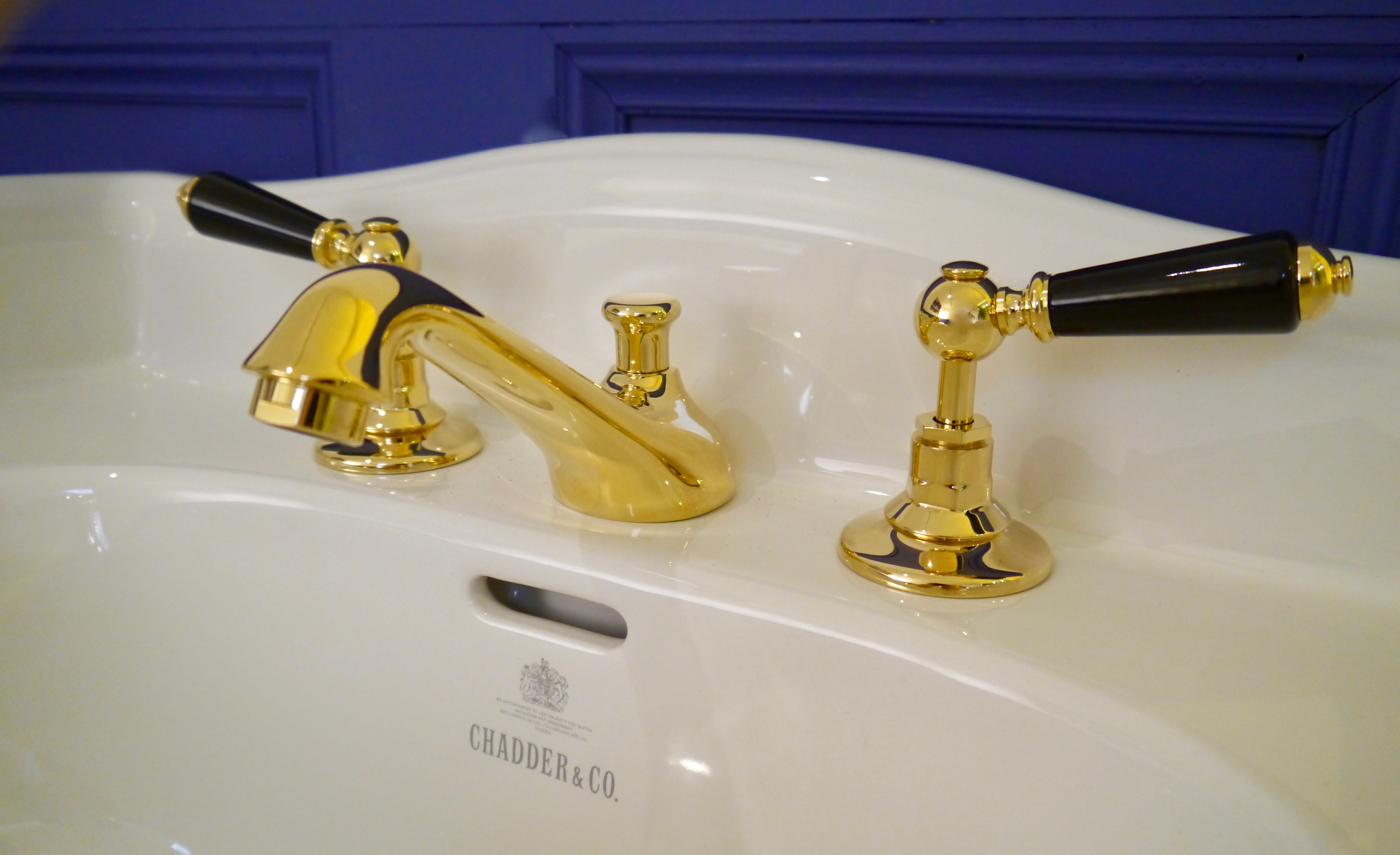 brass basin mixer faucet gold plated sink tap bathroom