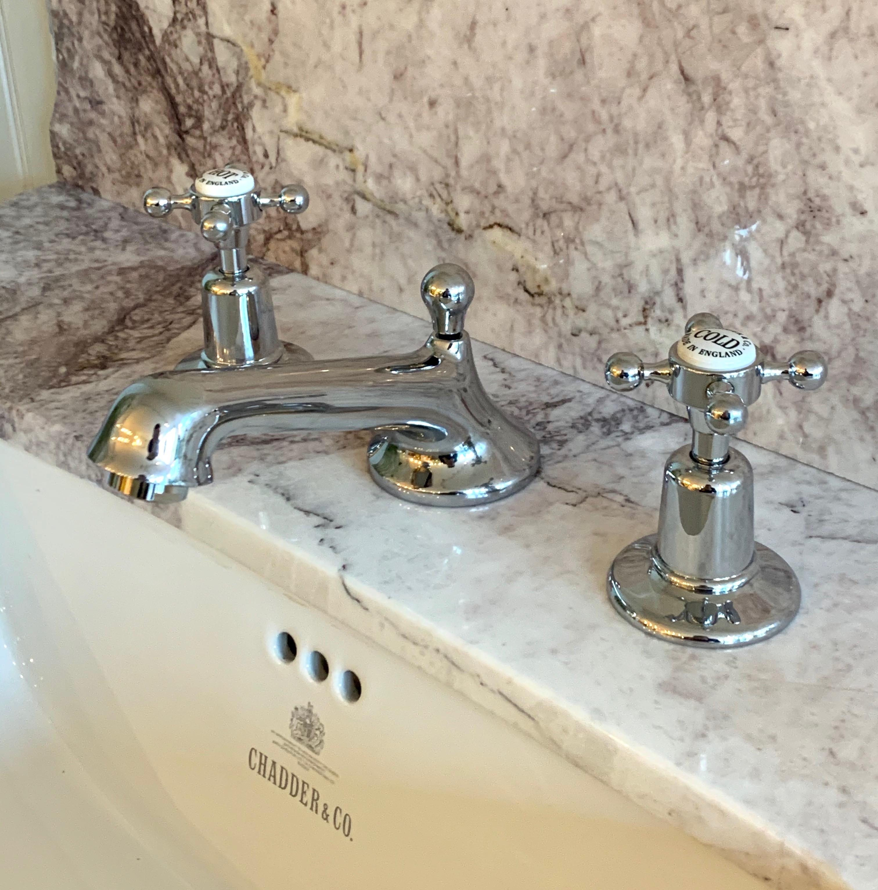basin tap mixer three hold victorian style bathroom design