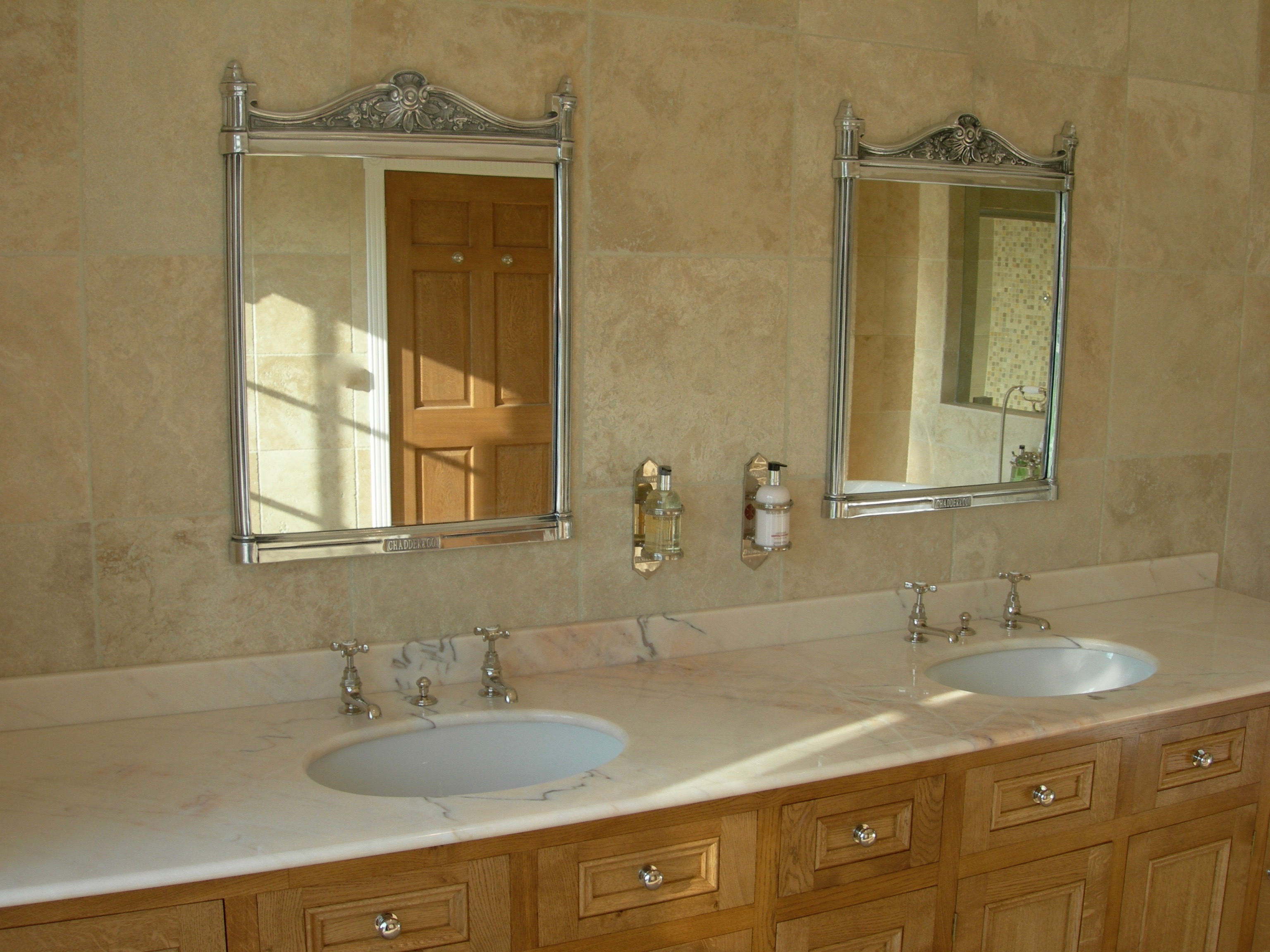 bathroom mirror basin marble top classic design