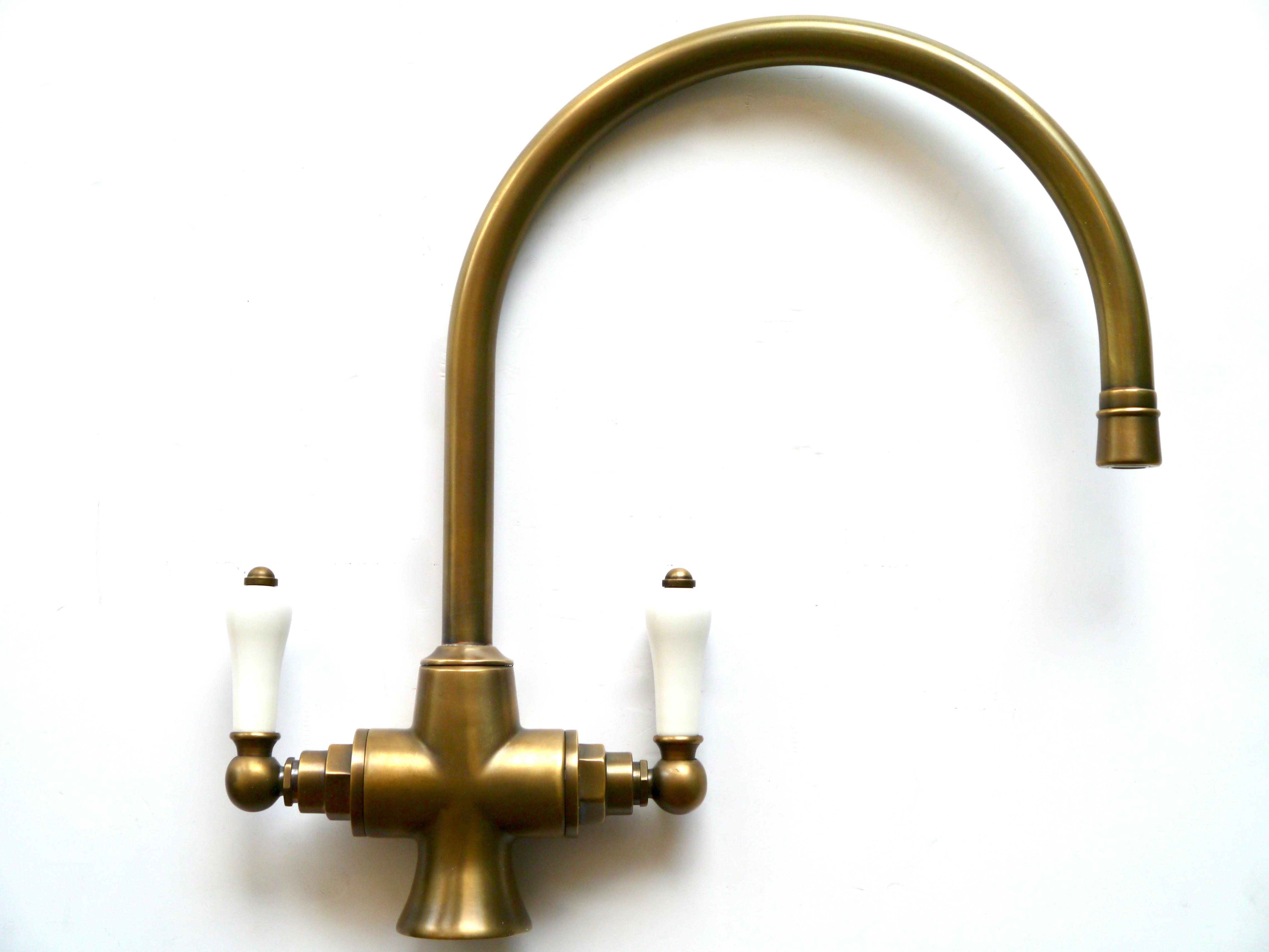 weathered brass kitchen mono mixer industrial design bathroom
