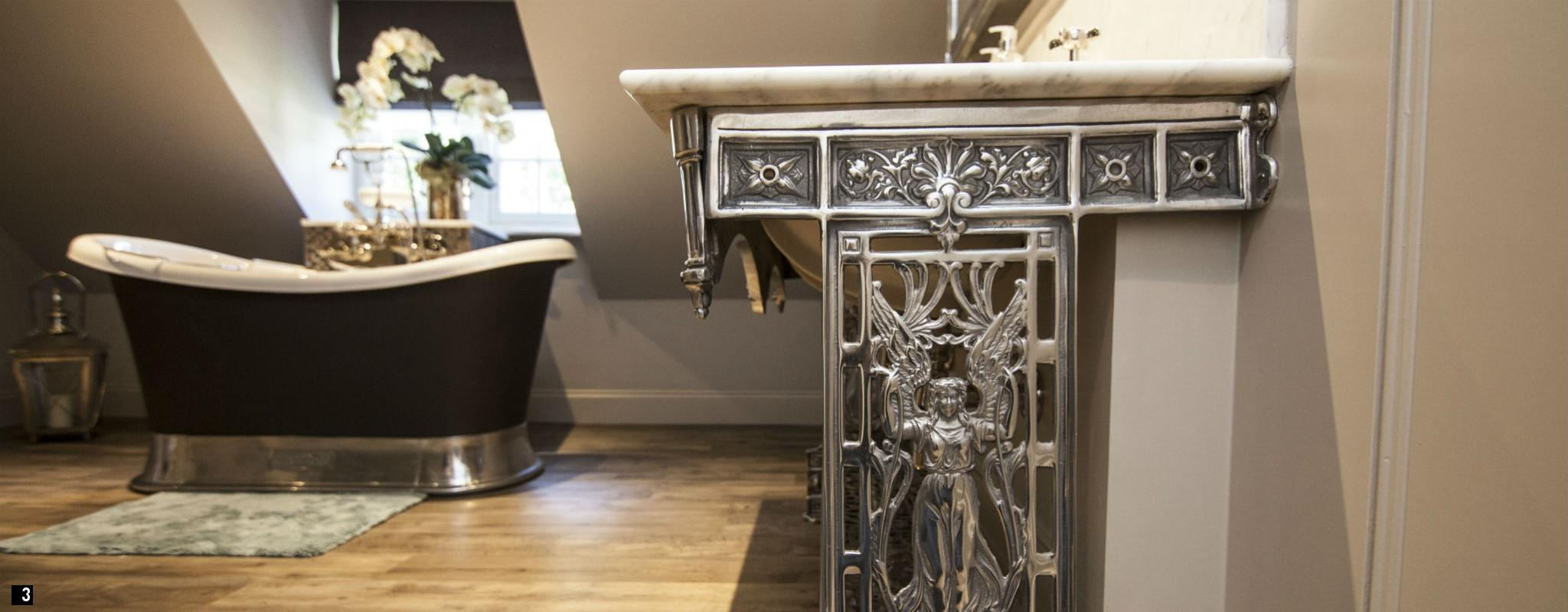 Chadder Vintage Victorian Washstand Nickel Fittings and Marble Top