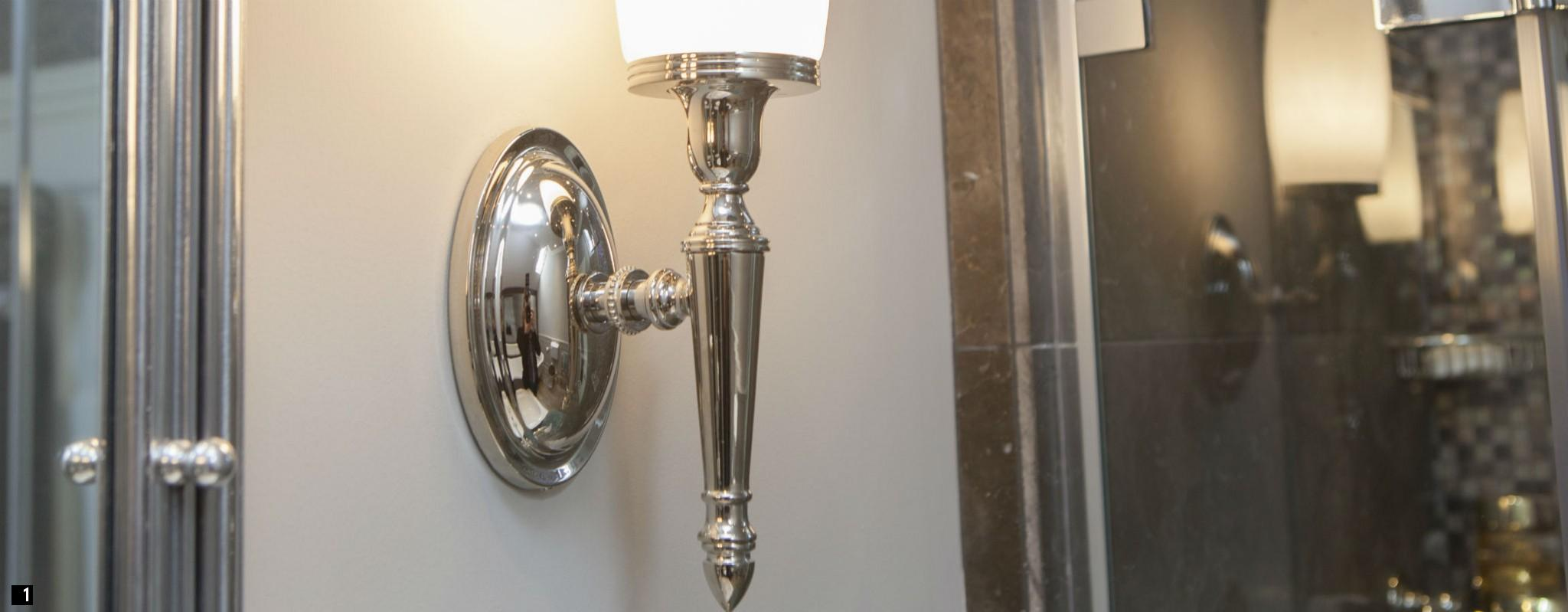 Nickel Traditional Bathroom Light