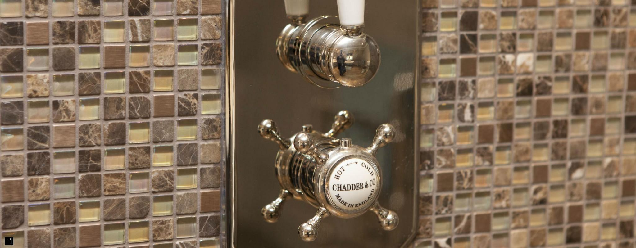Chadder Traditional Shower Control, Nickel Finish , Vintage Shower Control