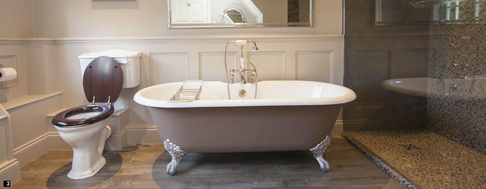 Vintage Roll Top Bath Chadder Wet Room Nickel Fittings