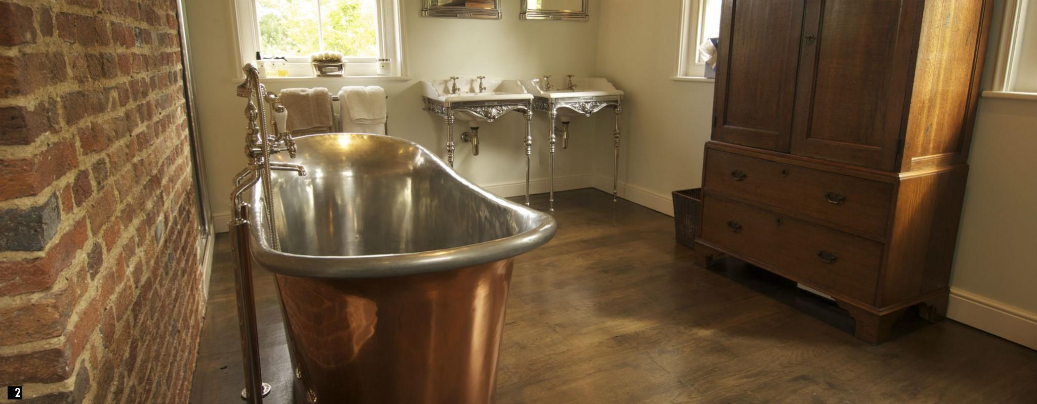 French Antique Copper Baths