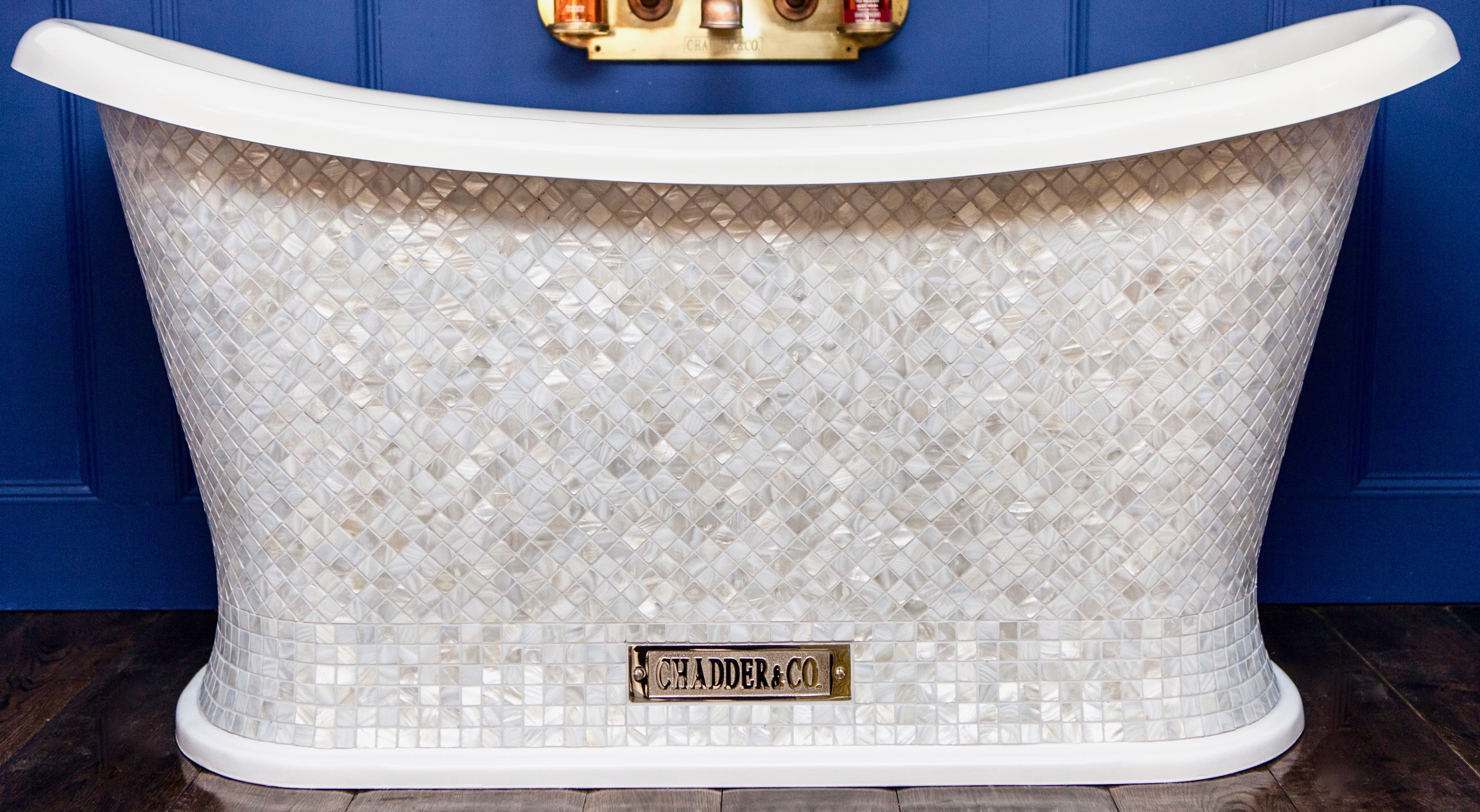 mother of pearl mosaic chariot bath free standing bath